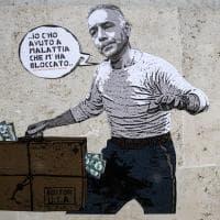 """Pallotta come Sordi in """"Un americano a Roma"""": il murale vicino allo stadio Olimpico"""