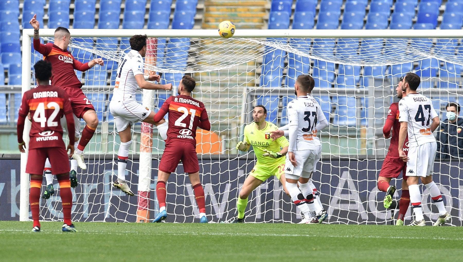 Roma-Genoa 1-0: decide Mancini, giallorossi al 4° posto