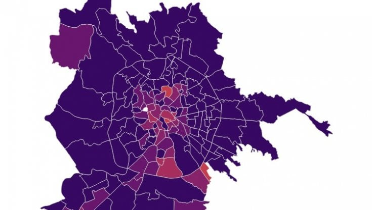 Roma Centro Cartina.Coronavirus La Mappa Dei Contagi Nei Quartieri Di Roma Record A Primavalle Bene Villa Ada E Martignano La Repubblica