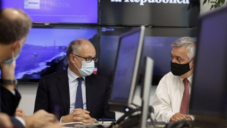 """Gualtieri: """"A Roma la rinascita post-Covid. Città pulita entro Natale"""". Il forum di..."""