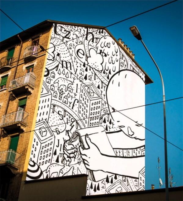 Torino La Street Art Di Vivere Quartiere Barriera Di