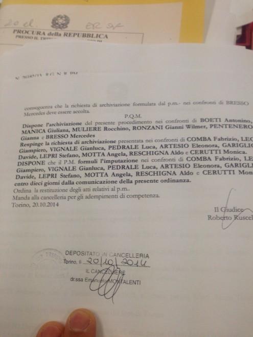 L'ordinanza che inguaia il vice di Chiamparino