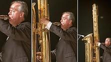 Al Moncalieri jazz festival il sax più grande del mondo: è alto tre metri
