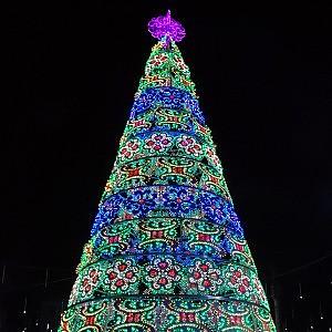 Albero Di Natale A Torino.Diciotto Metri Di Legno Metallo E Colori L Albero Per Il Natale Di Torino Arriva Dalla Puglia La Repubblica
