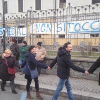Protesta a Susa contro i tagli alla sanità della Regione