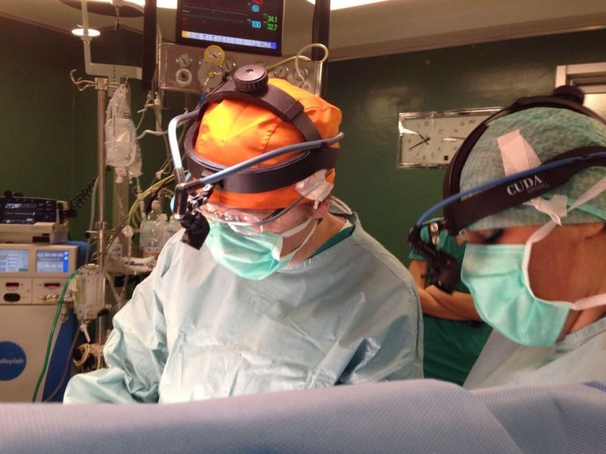 Torino, primo intervento al cuore con i Google Glass
