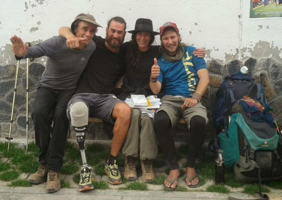 Dagli Appennini parte per la traversata delle Ande, ma con una gamba sola