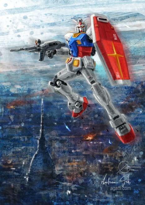 Andrea Gatti - Gundam in volo su Torino