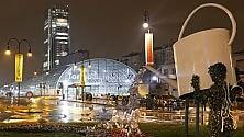 Torino in una notte di pioggia: bellezza doppia