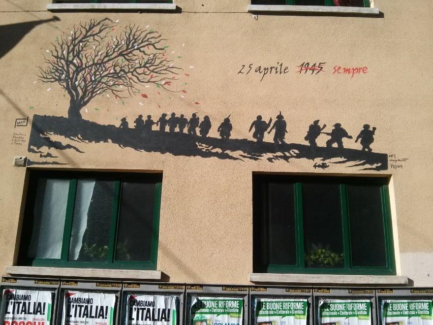 Quartiere Campidoglio, un murale e dodici artisti per la Liberazione