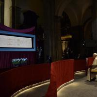 La carezza del Papa alla Sindone