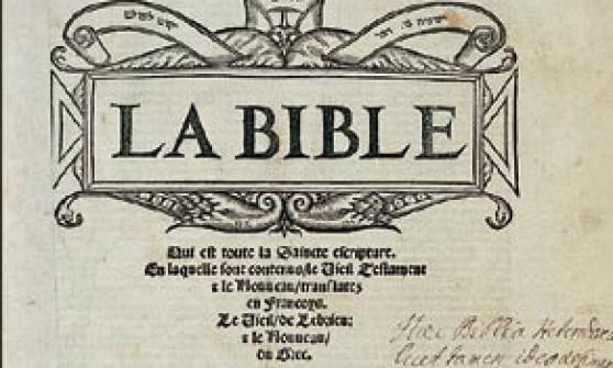"""In dono al Papa la prima Bibbia """"protestante"""" in francese"""