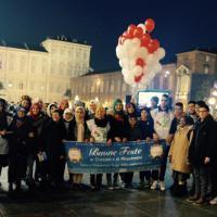 I musulmani augurano Buon Natale ai torinesi in piazza Castello