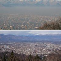 Torino e lo smog, prima e dopo la cura del foehn