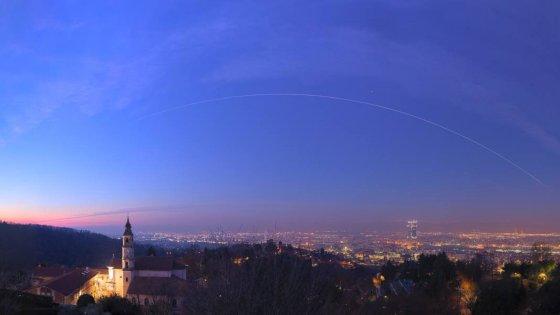 Ecco il viaggio della Stazione spaziale internazionale nel cielo di Torino