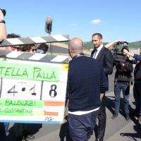 Torino, Chiellini torna in campo sul tetto del Lingotto: spot per la Nutella