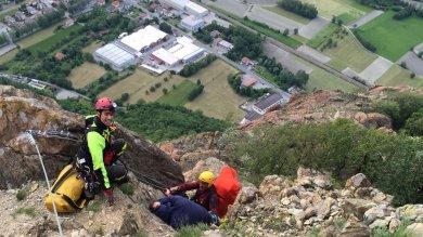 Valsusa: due alpinisti bloccati sulla ferrata, salvati malgrado il forte vento /      Foto