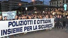 """Torino, fiaccolata  dei sindacati di polizia """"per la sicurezza"""""""