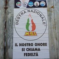 Carmagnola, manifesto del centrodestra con il motto delle