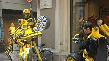 "Spunta un ""Transformer"" in via Garibaldi"