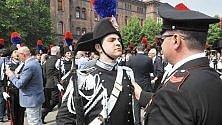 Il giuramento  degli allievi carabinieri  alla caserma Cernaia