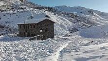 La neve sul Monviso  in un giorno di mezza estate, quasi un record