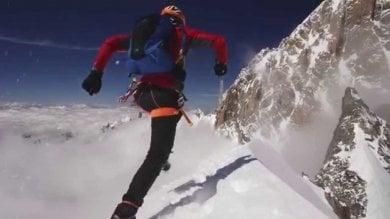 """Steck, """"the Swiss machine"""", da Courmayeur al Monte Bianco in cinque ore e mezzo"""