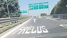 """Un divertente """"refuso"""" nella segnaletica stradale sull'autoFrejus"""