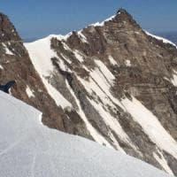 Aosta, tre alpinisti morti sul Monte Rosa: sono precipitati per 800 metri
