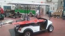 L'auto elettrica per i soccorsi a Porta Susa