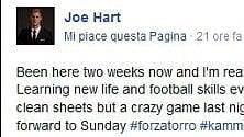 La papera di Joe Hart, l'italiano è da migliorare
