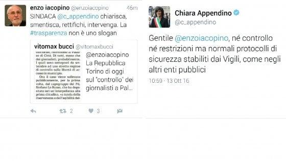 """Torino, """"filtro"""" ai giornalisti in Comune. Il presidente dell'Ordine: """"Appendino chiarisca"""""""