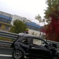 Scontro tra due auto manda in tilt la Tangenziale di Torino