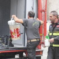Buste con polvere sospetta a Equitalia, le immagini dell'allarme a Torino