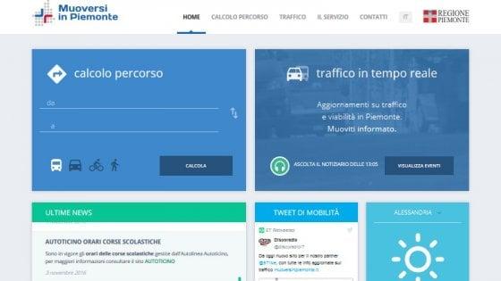 """Dal traffico al meteo, dai colli alpini a treni e aerei: via al portale """"Muoversi in Piemonte"""""""