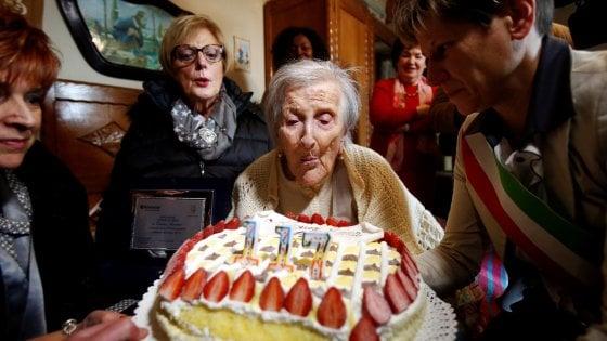 Spegne oggi a Verbania 117 candeline, Emma è la donna più vecchia del mondo