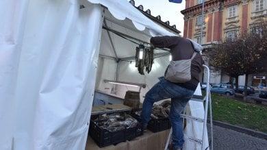 """Piazza Statuto, stop al mercatino di Natale    La soprintendente: """"Troppo impattante""""     Ft"""