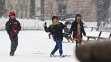 Torino, cartoline dalla prima nevicata in città