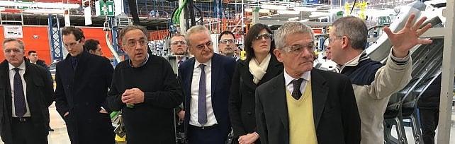Visita a sorpresa di Appendino e Chiamparino  a Mirafiori con Elkann e Marchionne