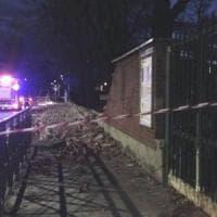 Torino, crolla il muro della materna di via Artom: nessun ferito
