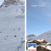 Valanga a Tignes, prima e dopo: la montagna, il fronte della slavina, i soccorsi