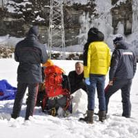 Gressoney, crolla cascata di ghiaccio: 4 morti. Le prime immagini
