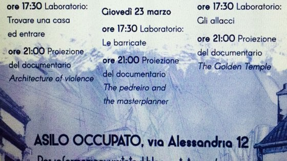 """Torino, gli anarchici lanciano la """"laurea breve"""" degli squatter: un corso in tre lezioni per occupare le case"""