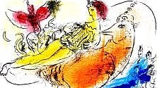 "Chagall, in mostra    a Torino ""l'artista che dipingeva fiabe d'amore"""