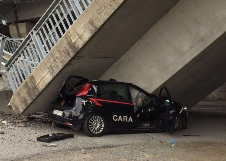 Crolla il ponte della tangenziale di Fossano, le immagini del disastro