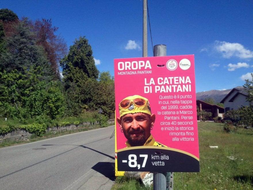 """Giro d'Italia, a Oropa sulla salita di Pantani le stazioni della """"via pedalis"""""""