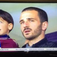 Bonucci in tribuna per Torino - Sampdoria con il figlio tifoso granata