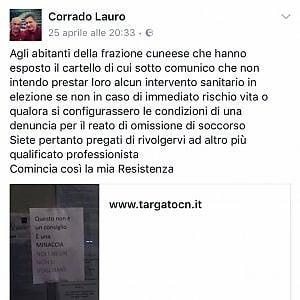 """Cuneo, gli abitanti della frazione non vogliono migranti in parrocchia. E il medico replica: """"Io non vi curo più"""""""
