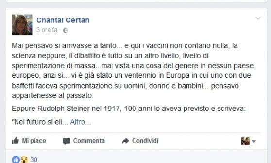 """""""Vaccini come le sperimentazioni di massa dei nazisti"""": Val d'Aosta, frasi shock su Facebook dell'assessora regionale"""