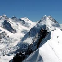 Alpinista disperso sul Breithorn nel massiccio del Monte Rosa
